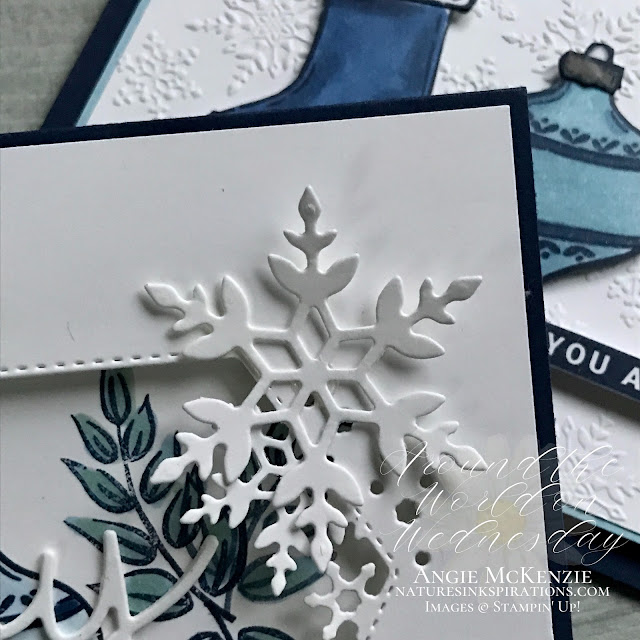 By Angie McKenzie for Around the World on Wednesday Blog Hop; Click READ or VISIT to go to my blog for details! Featuring the Tag Buffet Stamp Set, Peace & Joy Bundle, Peace & Joy Stamp Set, Joy Dies, So Many Snowflakes Dies, Winter Snow Embossing Folder by Stampin' Up!® to create colorful Christmas cards; #stampinup #cardtechniques #cardmaking #peaceandjoybundle #tagbuffetstampset #peaceandjoystampset #joydies #somanysnowflakesdies #paintedlabelsdies #wrappedinchristmasstampset #wintersnowembossingfolder #winkofstella #naturesinkspirations #stampinblends #fussycutting #handmadecards #20202021annualcatalog #augdec2020minicatalog #stampinupinks #stampingtechniques #awowbloghop #aroundtheworldonwednesdaybloghop