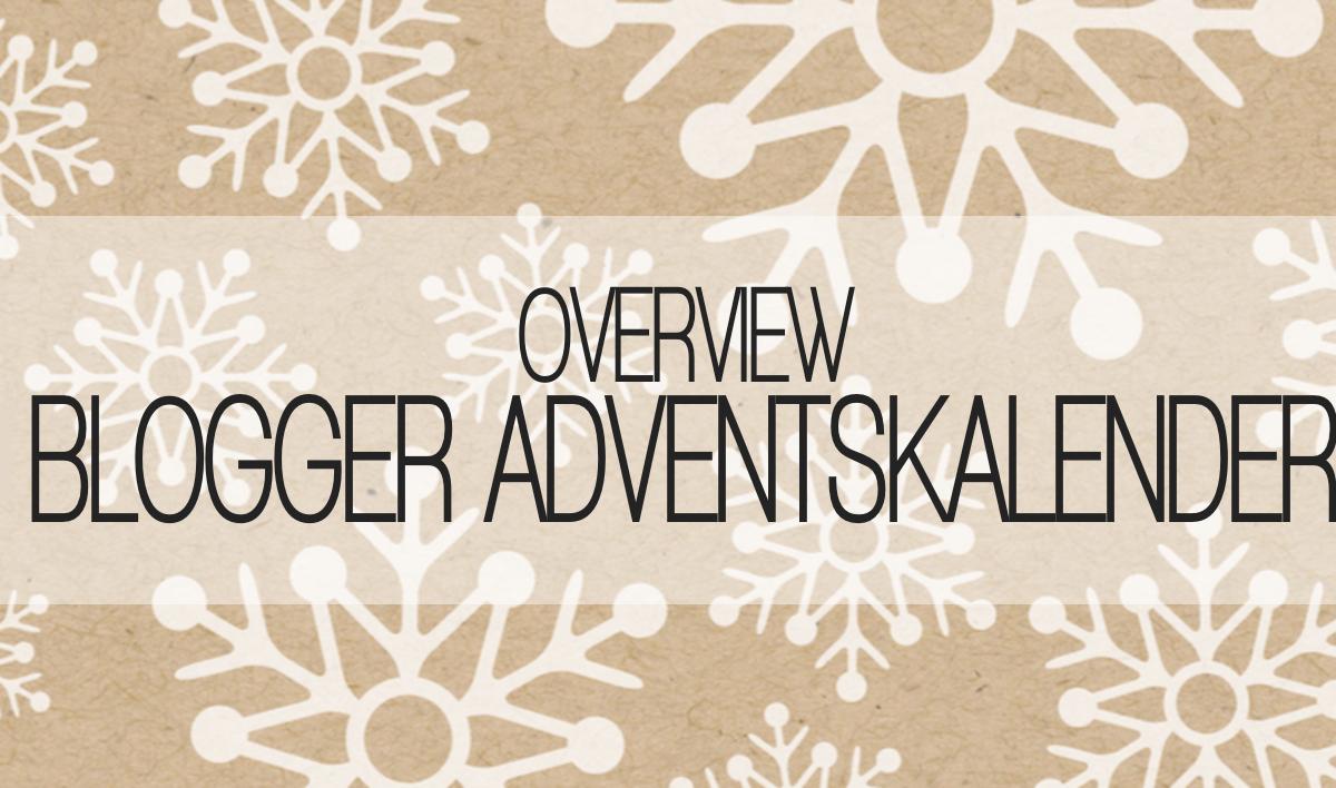 Übersicht aller Blogger Adventskalender 2016