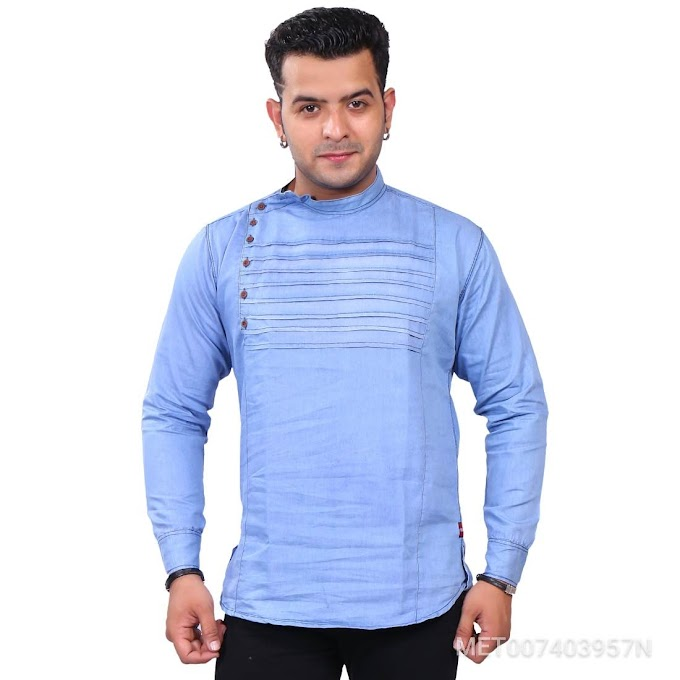 Mens Casual Denim shirt cum kurta
