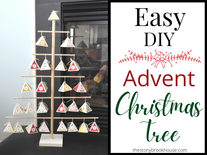 Easy DIY Advent Christmas Tree