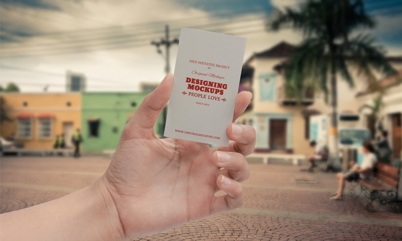 Business Card Hand Mockup PSD