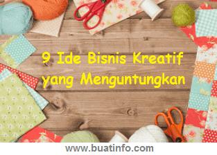 Buat Info - 9 Ide Bisnis Kreatif yang Menguntungkan