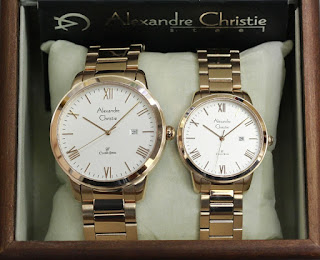 Jam Tangan Couple Original Alexandre Christie