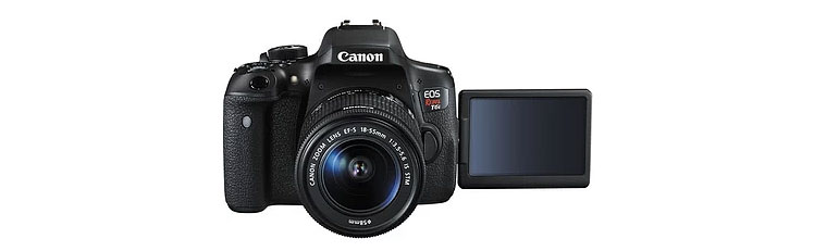 Canon EOS 750D Rebel T6i DSLR Camera