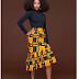 Collection of Beautiful High Waist A-line Flared Ankara Long Skirt for women and girls