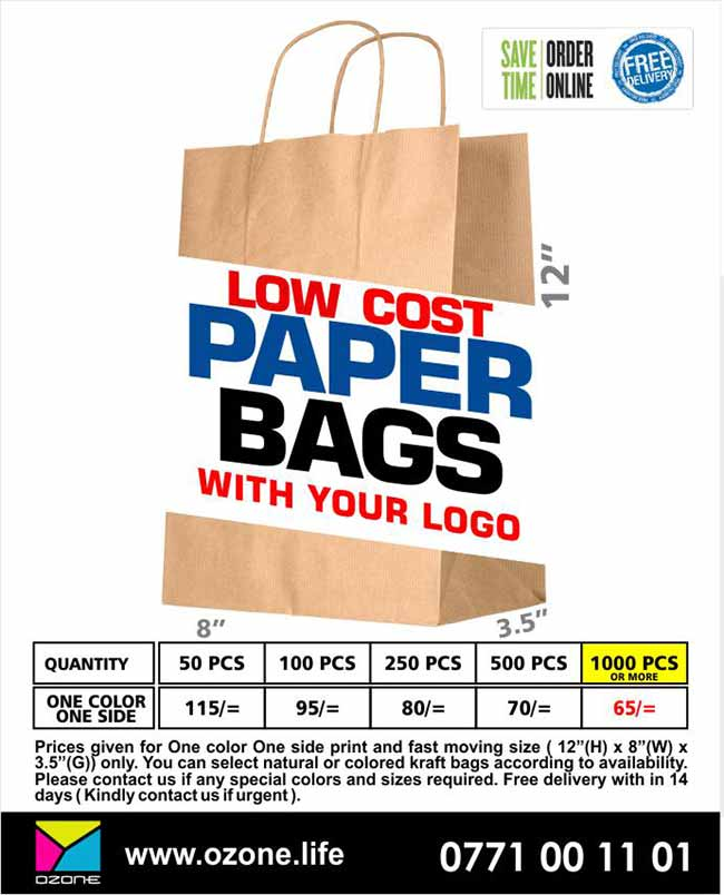 Ozone Branding | Low Cost Paper Bag Printing with Your Logo.