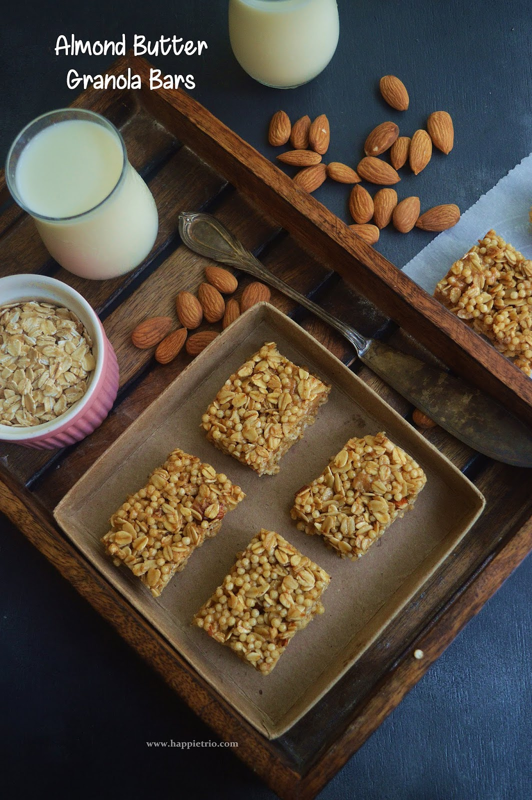 Almond Butter Granola Bars Recipe | Granola Bars with Almond Butter