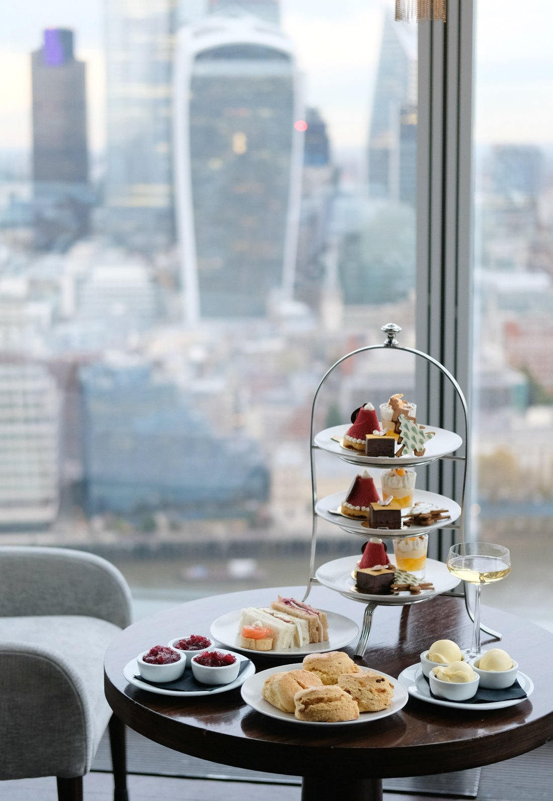 Aqua Shard London Festive Afternoon Tea