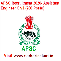 APSC Recruitment 2020- Assistant Engineer Civil (260 Posts)