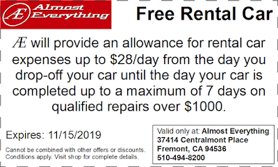 Coupon Free Rental Car October 2019