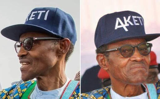 Photos: Buhari rocks a face cap at APC rally in Ondo