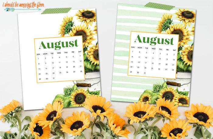 Free August Calendar Printable