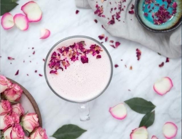 Hibiscus Rose Latte #drinks #latte