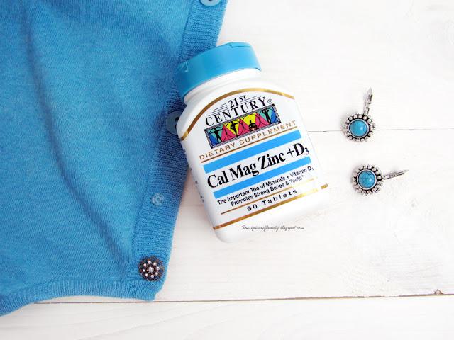 Витамины Кальций, магний, цинк + D3 от компании 21st Century / блог A piece of beauty