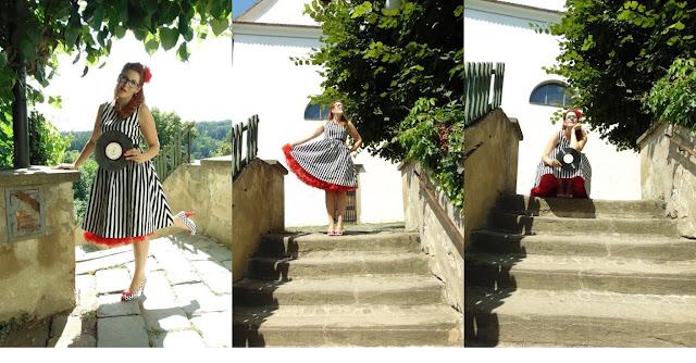 Retro šaty na electroswing večírek