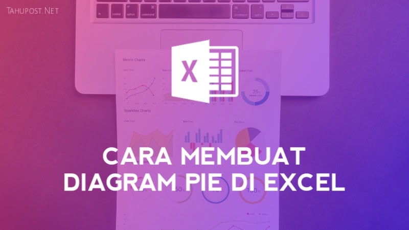 Ikon Microsoft Excel dan teks cara membuat diagram pie di excel