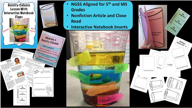 teaching science  lynda density columns aligned  ngss