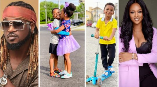 Rude Boy And His Wife, Anita Okoye Celebrate Their Twin 4th Birthday