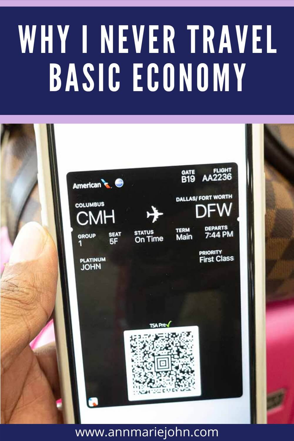Why I Never Travel Basic Economy