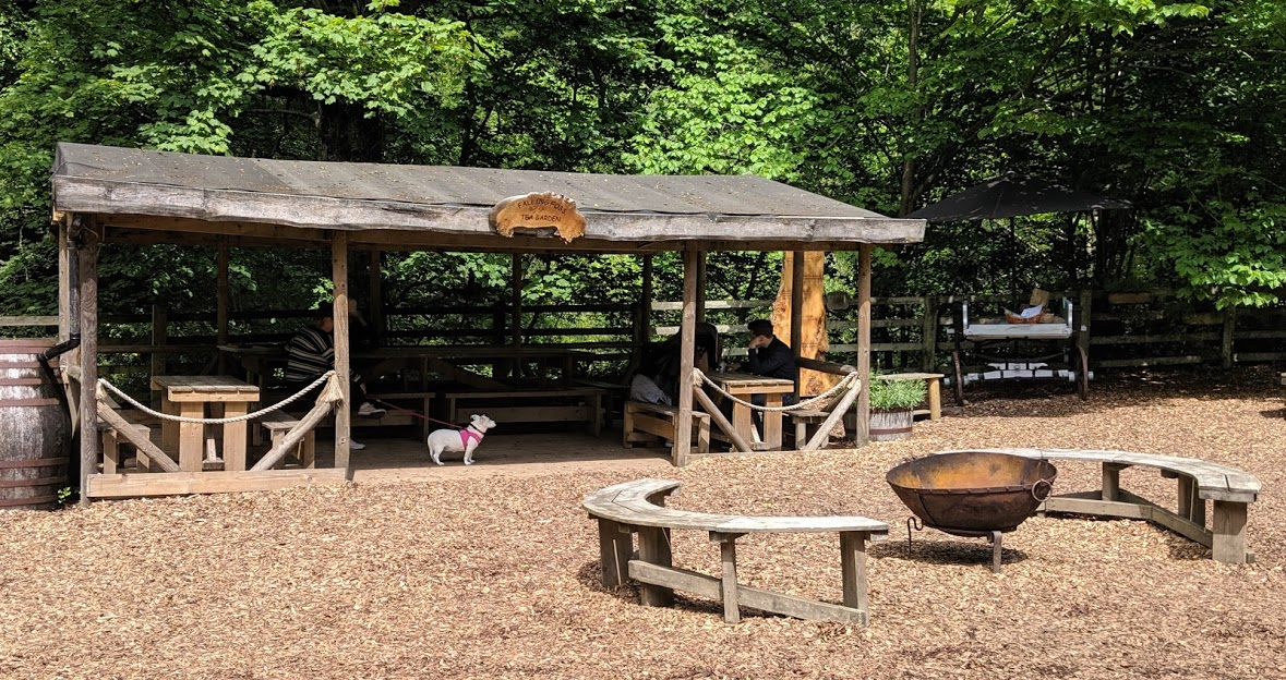 Falling Foss Tea Garden (near Whitby) - undercover seating and fire pit