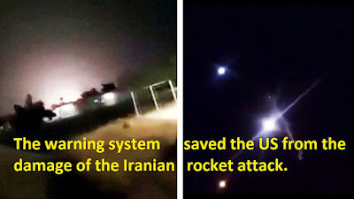 The warning system saved the US from the damage of the Iranian rocket attack.