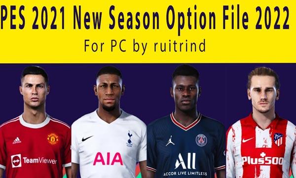 eFootball PES 2021 New Season Option File 2022