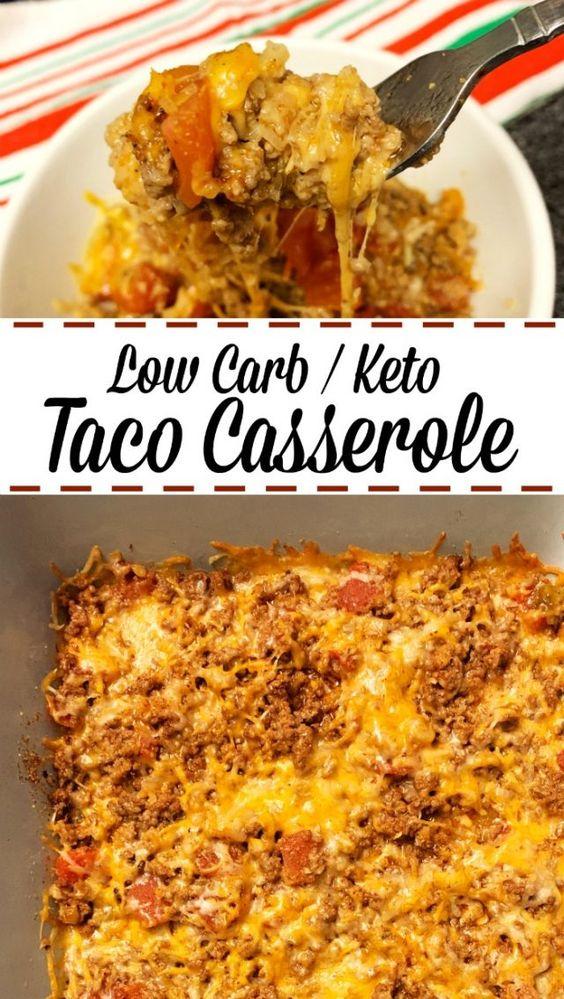TACO CASSEROLE - LOW CARB / KETO