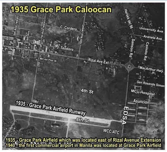 Aerial view of Grace Park Airfield