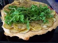rezept vegan pizza bianca con patate et ruccola hauptspeise