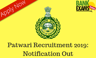 HSSC Patwari Recruitment 2019: Notification Out