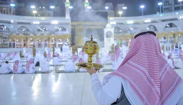Penampakan Sholat Idul Fitri di Masjidil Haram Makkah saat Corona