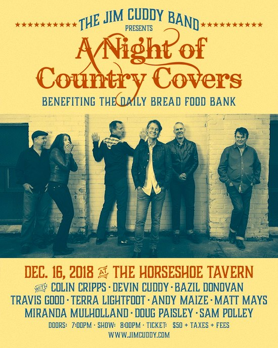Jim Cuddy Band: A Night of Country Covers @ The Horseshoe, Dec 16