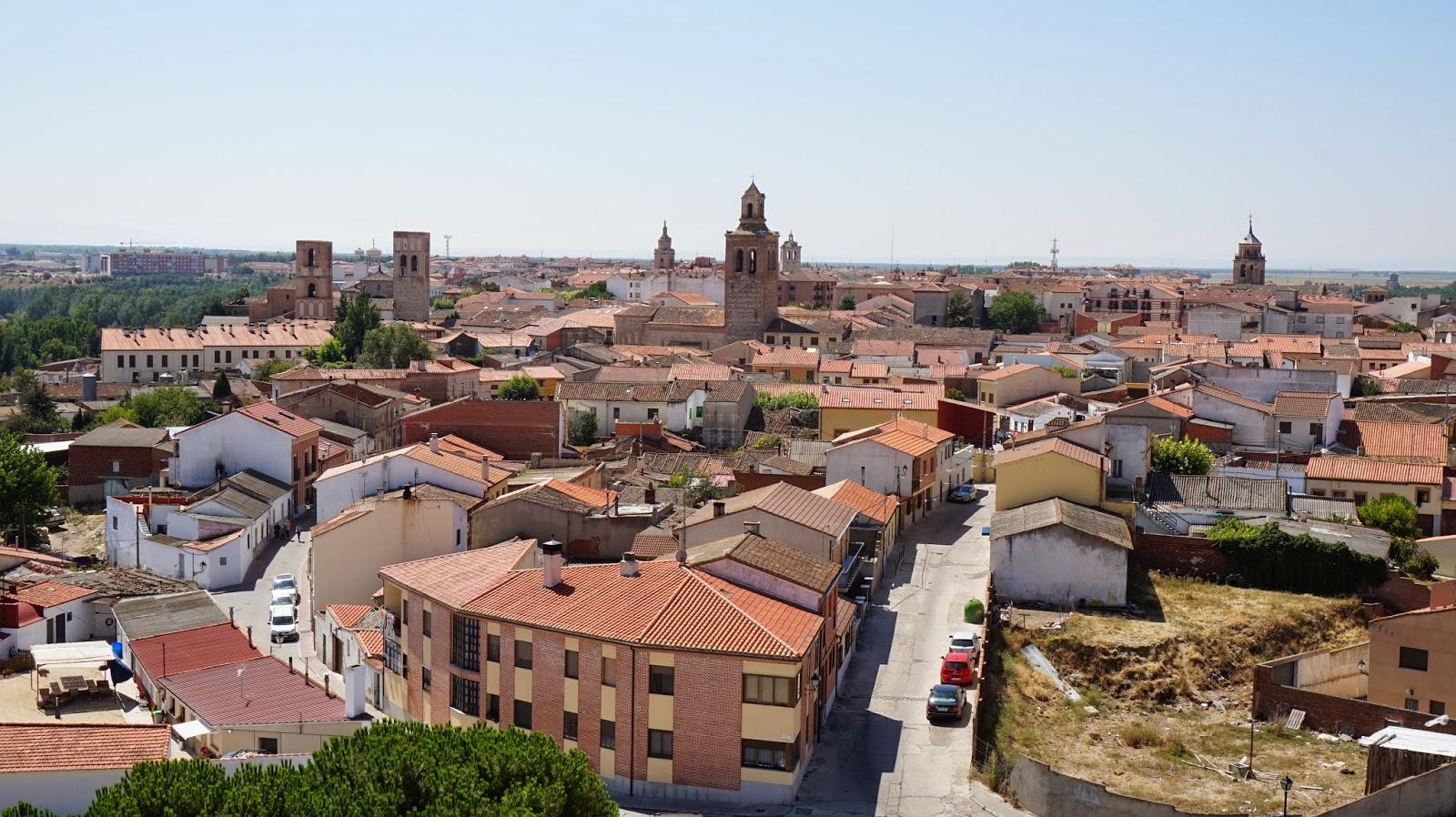 Vistas de Arévalo desde el castillo