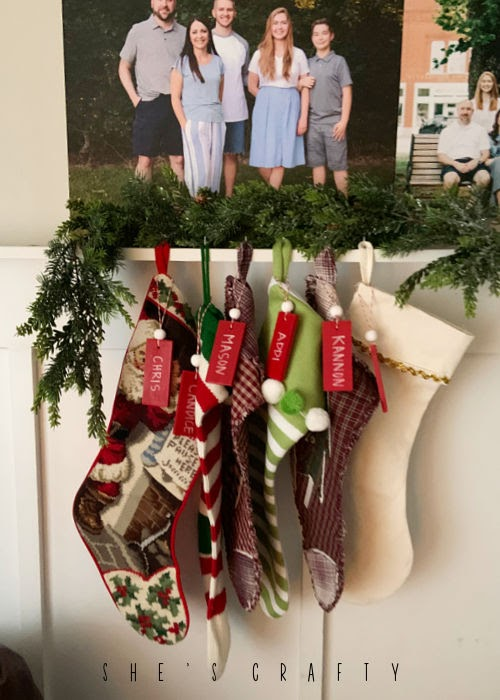 How to make name tags for stockings
