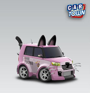Scion xB Black Cat 2008 Pink Panther