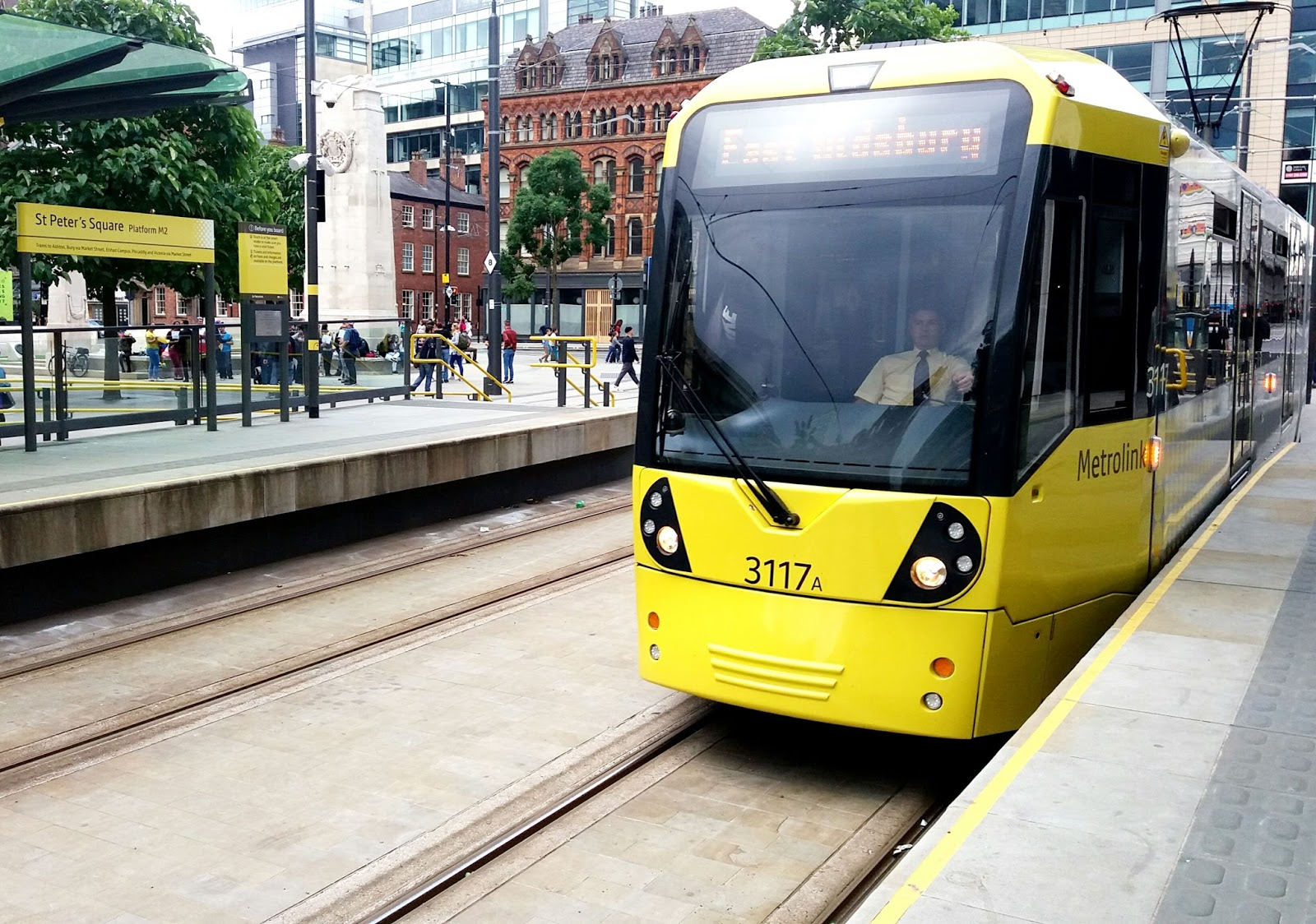 Manchester Metrolink Tram in St Peter's Square