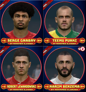 PES 2017 Facepack V2 by M.Elaraby Facemaker [ 10 Faces ]