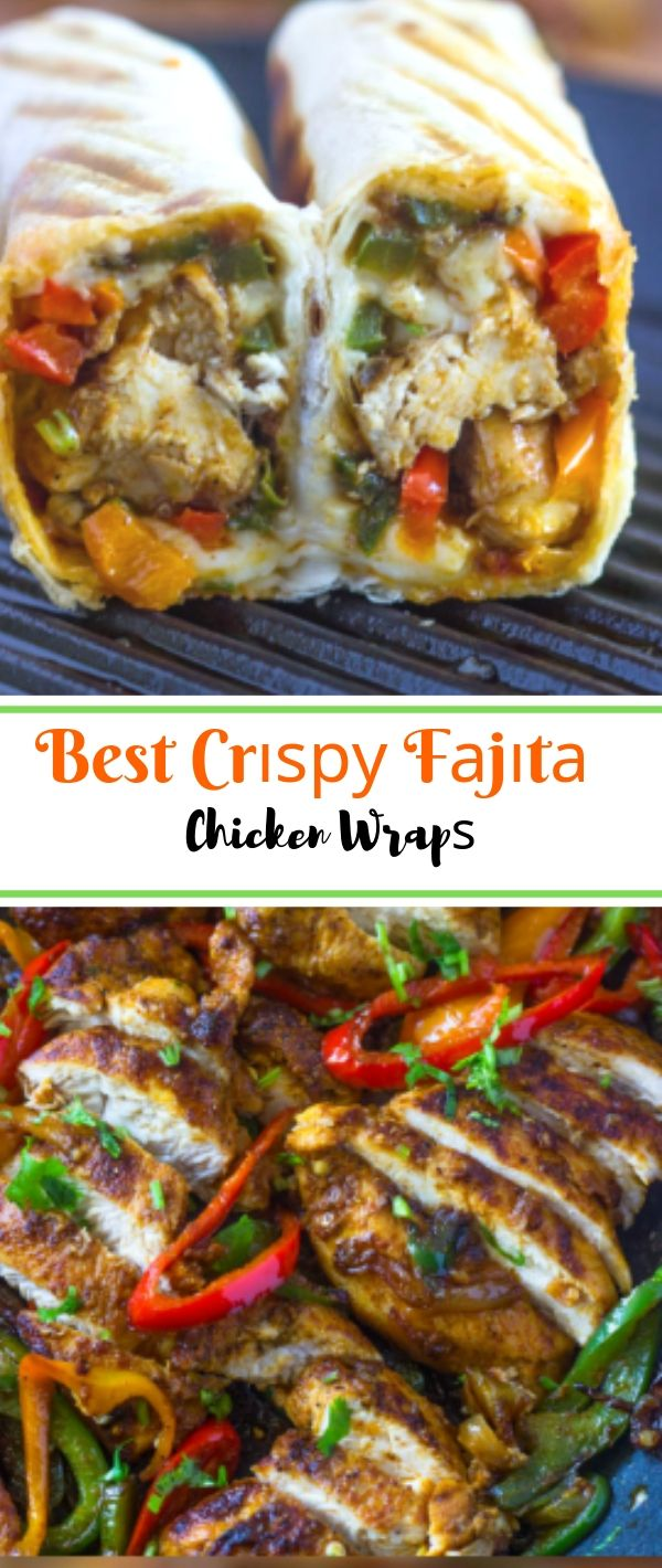 Bеѕt Crіѕру Fаjіtа Chicken Wrар #Bеѕt #Crіѕру #Fаjіtа #Chicken #Wrар Healthy Recipes For Weight Loss, Healthy Recipes Easy,