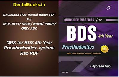 QRS for BDS 4th Year Prosthodontics Jyotsna Rao PDF