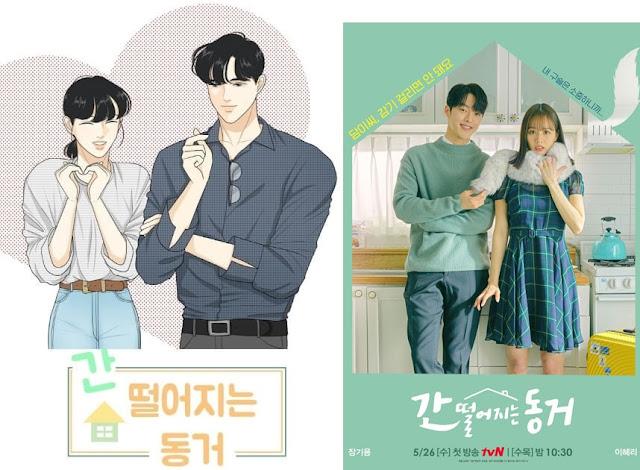Webtoon My Roommate is a Gumiho : Gan Ddeoreojineun Donggeo