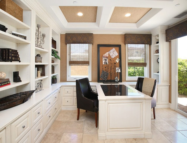 best executive white home office desk layout design with file cabinets ideas