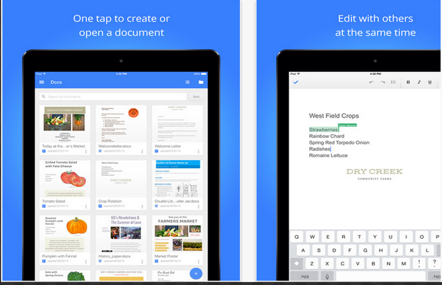 how to access google drive on ipad