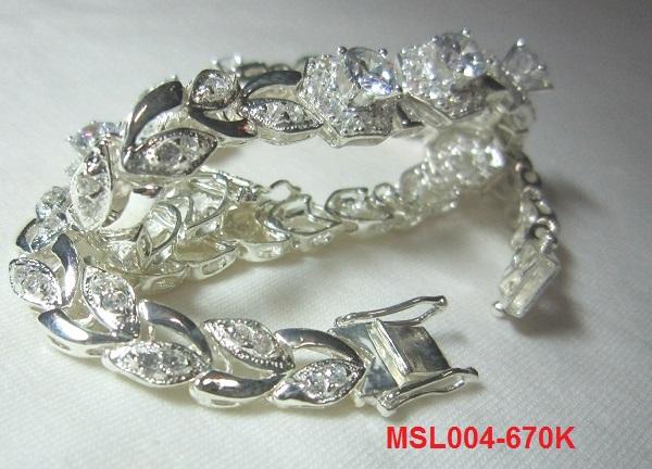 trangsuc.top - Lắc tay đính đá trắng cao cấp MSL005 - Giá: 670,000 VNĐ - Liên hệ mua hàng: 0906846366(Mr.Giang)