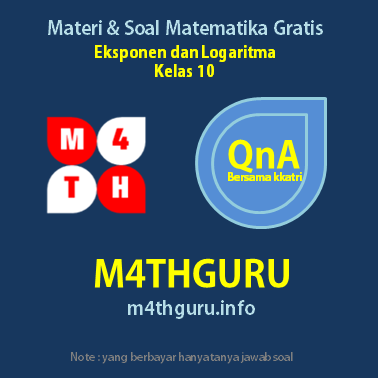 Materi dan Pembahasan Soal Eksponen dan Logaritma