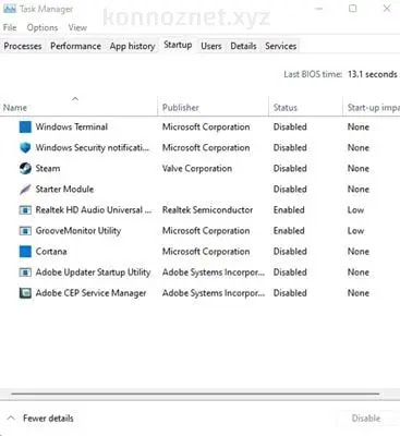 إيقاف تحميل خدمات Windows