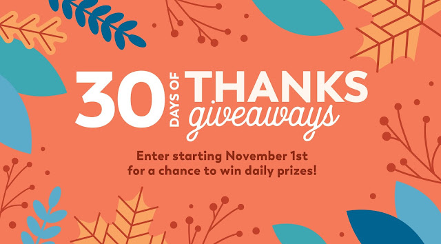 HGTV Magazine is celebrating Thanksgiving this year by hosting thirty days of giveaways! Enter every day for your chance to win great prizes worth up to $999!