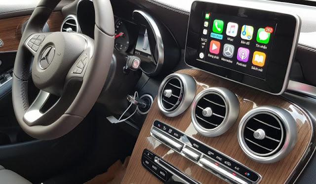 Mercedes GLC 250 4MATIC 2019 sử dụng Hệ thống giải trí tiên tiến và hàng đầu của Mercedes hiện nay