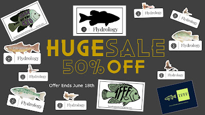 Sticker Sale, Fly Fishing Stickers, Flydrology, Decal Sale, Fly Fishing Decals, Texas Freshwater Fly Fishing