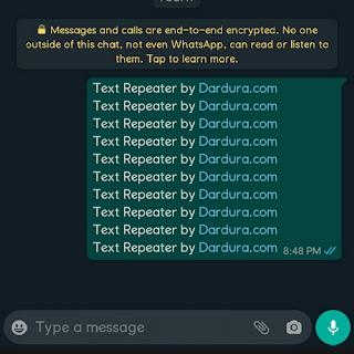 Repeat Text Whatsapp