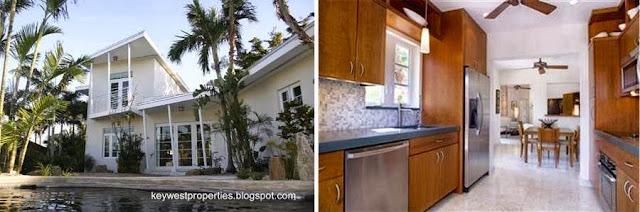 Vistas exterior e interior de la residencia Mid Century en Key West